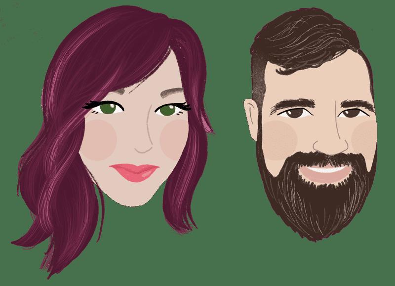 Hi! We're Harlan & Yvette!